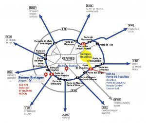 Plan d'Accès Rennes Campus de Beaulieu par la route